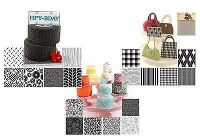 Texture Sheet Set for Cake Decorating - Choose the design you want!