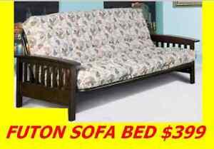 SOFA BED FUTON EXPRESSO WOOD AND BLACK METAL VERY STRONG $399 Oakville / Halton Region Toronto (GTA) image 4