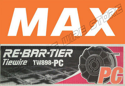 Tw898pc Max Rebar Tie Wire 50 Roll Case - New Product Poly-coated