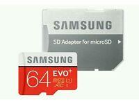 Samsung Memory 64 GB Evo Plus MicroSDXC UHS-I Grade 1 Class 10 Memory Card