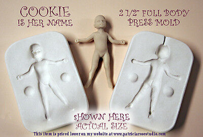 """doll house scale toddler 2 1/2"""" PRESS MOLD for polymer clay by Patricia Rose"""