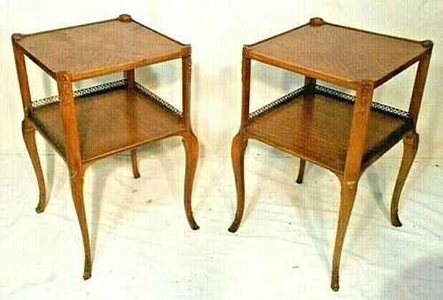 ANTIQUE PAIR OF ART NOUVEAU ART DECO LOUIS XV END TABLES