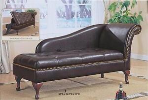 Brown Lounge Chair w Storage