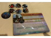 Warhammer Quest Silver Tower Limited edition card set, tzeentch token and badges