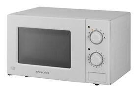 Microwave with warranty.