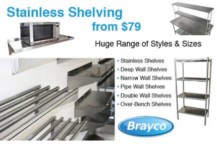 STAINLESS STEEL SHELVING FROM $79.00