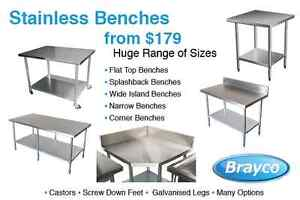STAINLESS STEEL BENCHES FROM 179.00 Osborne Park Stirling Area Preview
