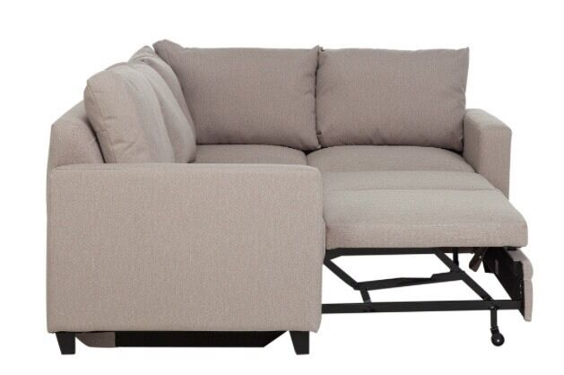 Hygena Seattle Regular Right Hand Corner Sofa Bed Natural