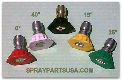 Pressure Washer Spray Nozzles Full Set Of 5