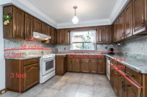 Used kitchen cabinets countertop for sale
