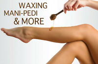Pedicure-manicure-waxing services
