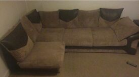 Few month old brown corner sofa