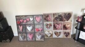 Large hanging photos