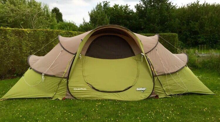 Large Pop Up Tents : Base seconds quechua man family large pop up tent