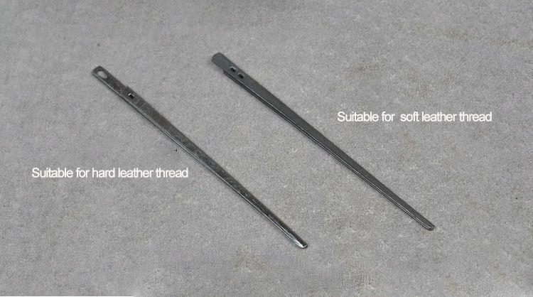 2pcs   Steel Needle LeatherCraft Leather Lacing Threading Handmade DIY Tools
