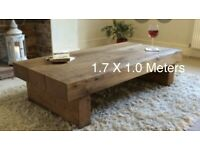 Rustic Wooden Coffee Tables of all sizes