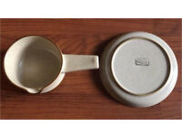 DENBY ONE HANDED SOUP BOWL OATMEAL BROWN TAN