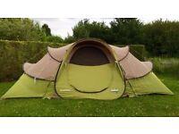 Quechua Base 2 Seconds 4.2 Pop Up Tent - 3 rooms / sleeps 4+