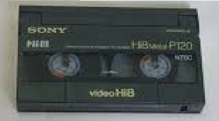used sony hi8 metal p120 video/camcorder tape - F3