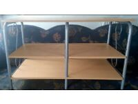 TV Stand Wood Adjustable Shelves(will accept reasonable offers)