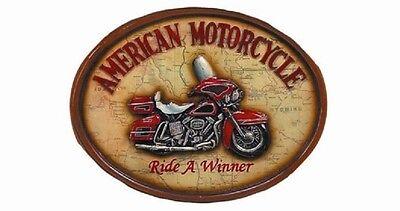 Ram R124 Ride A Winner American Motorcycle Pub Sign 3D Art w/ FREE Shipping