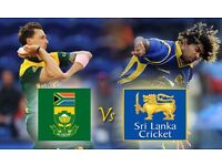 4 tickets for South Africa v Sri Lanka at the ICC Champions Trophy, the Oval, Sat June 3rd, £50ono