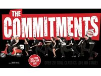 THE COMMITMENTS Friday 30th Dec 2.30pm - 2 front row stalls seats below face value