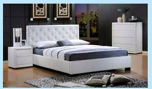 new KING WHITE BONDED LEATHER bed FINANCE AVAILABLE Bundall Gold Coast City Preview