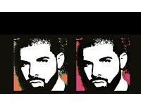 4 X Drake Seated Tickets for Tonight Thursday Birmingham