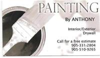 Need a painter?! Call Anthony!! 905-510-9265