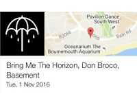 1 x Bring Me The Horizon Ticket Bournemouth