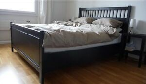 IKEA Hemnes Double Bed Frame with Mattress