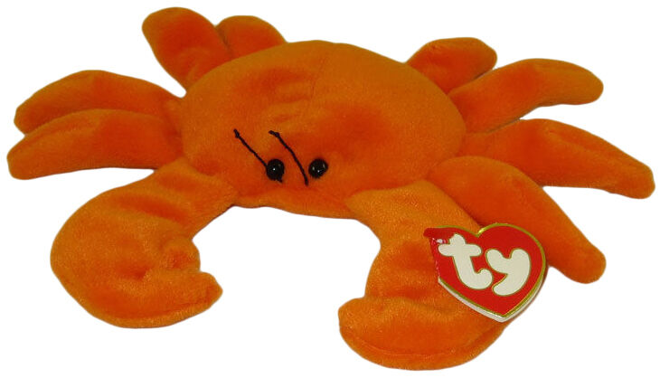 Digger the crab stems from the original generation of Beanie Babies. Like  other first generation Beanie Babies 047716a52f8