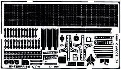 Eduard Accessories 17001 - 1:700 Flugzeugträger Uss Enterprise Cv6 Für Tamiya Ba
