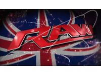 4x WWE RAW LONDON O2 Arena 8/5/17 Sec 110 Row B