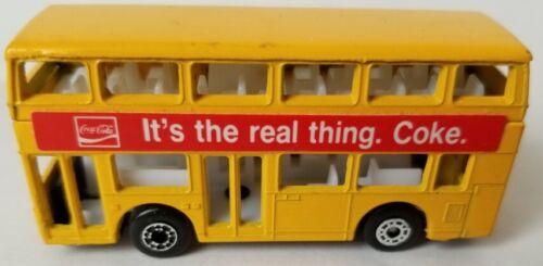 1981 Coca Cola, Matchbox, Double Decker Die Cast Bus, Mint. ITRT