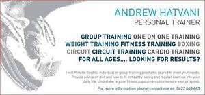 Andrew Hatvani Personal Training Glen Waverley Monash Area Preview