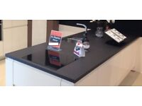 Granite worktop with bowl and a half stainless steel sink