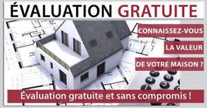 Évaluation gratuite-Maison à vendre-Condo-Laval-Montréal