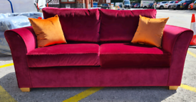 Brand New Gainsborough Selby 3 Seater Sofa Bed Sienna Red RRP £999