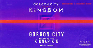 FOUR (4) GORGON CITY TICKETS - SAT, OCT 21 - REBEL