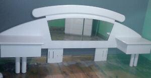 set de chambre armoire+tete de lit avec table de chevet