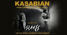 4x Kasabian standing tickets, Birmingham Arena, Saturday 9th December 2017