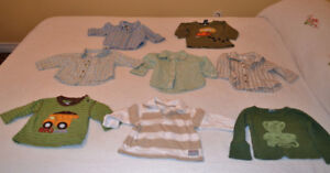 Long sleeved shirts for little boys,3 - 6 mo, $1.00 per item