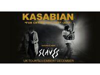 4x Kasabian standing tickets, Barclaycard Arena Birmingham, Saturday 9th December 2017