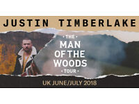JUSTIN TIMBERLAKE - THE MAN OF THE WOODS TOUR - 9TH JULY - THE O2 ARENA LONDON