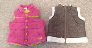 VESTS SZ 2 (2)  ROXY, PLEASE MUM