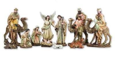 Nativity Set Removable Jesus Kings Camels 12 inch 11pc Indoor Outdoor Yard Decor