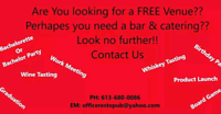 Free Venue for any occasion