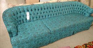 3 seater, turquoise couch